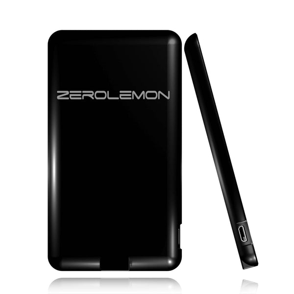 [36 MONTHS WARRANTY]ZeroLemon SlimJuice 3100mAh Ultra-Compact Portable Credit Card Sized External Battery Backup Charger Power Bank Charger - BastexShop