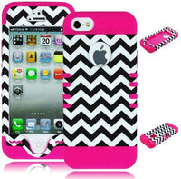 Hybrid Case  iPhone 5, 5S, 5th Generation - Pink Silicon - BastexShop