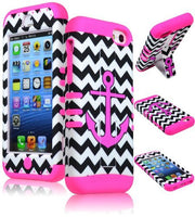 Hybrid Case  Apple iPhone 5c - Hot Pink Silicone with Wh - BastexShop