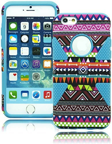 "Hybrid   Protective Blue Cover Tribal Dynamic Case  iPhone 6, 4.7"" - BastexShop"