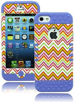 iPhone 5, 5S, 5G. Hybrid Lavender Cover with Chevron  Design Case - BastexShop