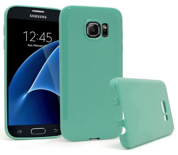 Samsung Galaxy S7, Slim Fit Flexible TPU Gel Case (Teal) - BastexShop
