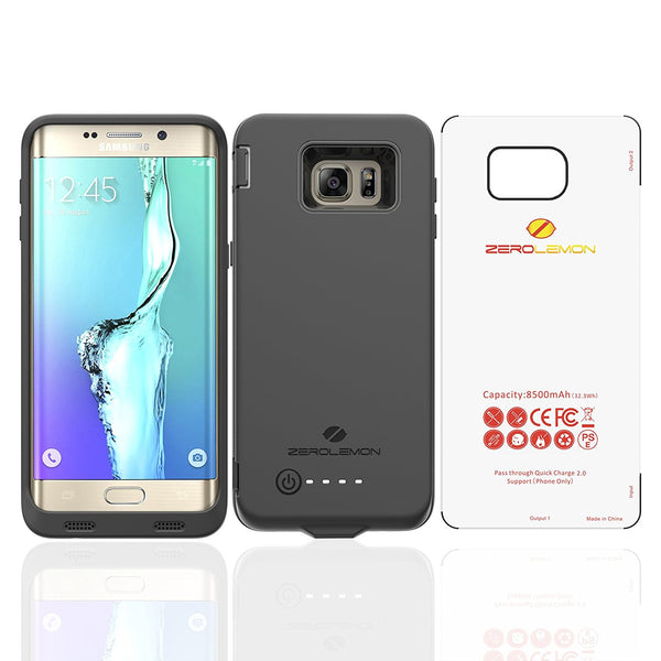 Samsung Galaxy S6 Edge Plus ZeroLemon 8500mAh Extended Charger Case