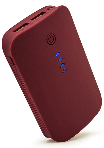 6000mAh Portable Power Bank with Duel USB Ports (Red) - BastexShop