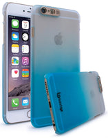 iPhone 6, Frosted Fade White to Blue Case w/ LED Flash Function - BastexShop