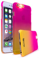 iPhone 6, Fade Pink to Yellow Case w/ LED Flash Function - BastexShop