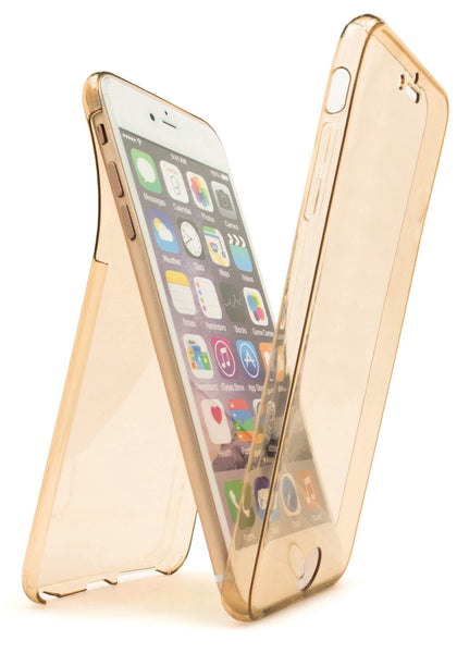 iPhone 6S, Front and Back TPU Case with Gold Tint - BastexShop