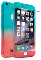 iPhone 6 Plus, Blue to Pink Fade  Case With Tempered Glass Screen Protector - BastexShop