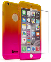 "iPhone 6 Plus 5.5,"" Gold to Pink Fade Case With Glass Screen Protector - BastexShop"