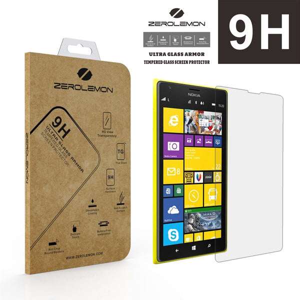 [Lifetime Warranty] ZeroLemon® Ultra Glass Armor - 9H Premium Tempered Glass Screen Protector for Nokia Lumia 1520 - Full HD. Protect your Screen from Drops and Scratches
