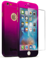 iPhone 6 4.7, Full Body Pink to Purple Fade Case With Glass Screen Protector - BastexShop