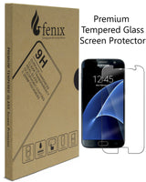 Fenix - Samsung Galaxy S7 [0.26mm Thickness] 9-H Premium Tempered Glass Screen Protector / Ultra High Definition Invisible, Clear Transparancy, Oleophobic Coating and Anti-Bubble Crystal Shield - BastexShop