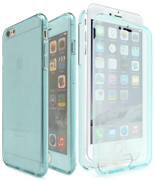 iPhone 6S Clear TPU, Two Piece Full Body Cover (Blue Tint) - BastexShop