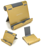 Gold Multi-Angle Portable Stand for 4 to 10-Inch Smartphones, and Tablets - BastexShop