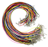 100pc Waxed Necklace Cords w/ 10 Color Choices - BastexShop