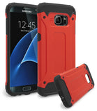 Samsung Galaxy S7 Edge Hybrid Slim Fit Red and Black Case - BastexShop