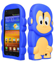 Blue  Monkey Animal Silicone Case Cover  Samsung Galaxy S2 Epic 4G Touch - BastexShop
