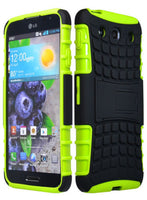 LG Optimus G Pro Tough  Hybrid Kickstand  Case  Green Silicone - BastexShop