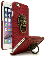 "iPhone 6s 4.7"" Vintage Rock Lion Head with Red Gator Skin textured Case - BastexShop"