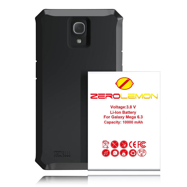 Samsung Galaxy Mega 6.3 Zerolemon 10000 mAh Extended Battery + Case - BastexShop