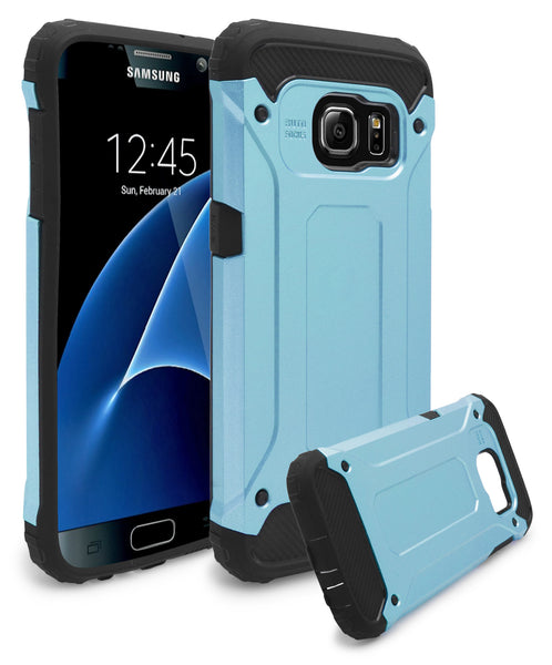 Samsung Galaxy S7 Hybrid Slim Fit Blue and Black Case - BastexShop