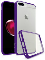 iPhone 7 Plus Bastex, Transparent back, Fused TPU Purple Side Bumper Case - BastexShop
