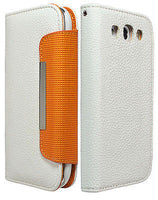 Samsung Galaxy S3 White PU Leather Flip Wallet Case Cover - BastexShop
