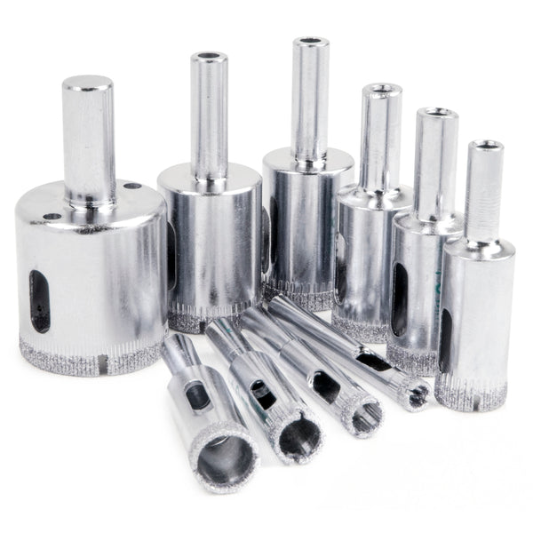 10pc Diamond Drill Bit Set – Glass, Marble & Ceramic Tile - BastexShop