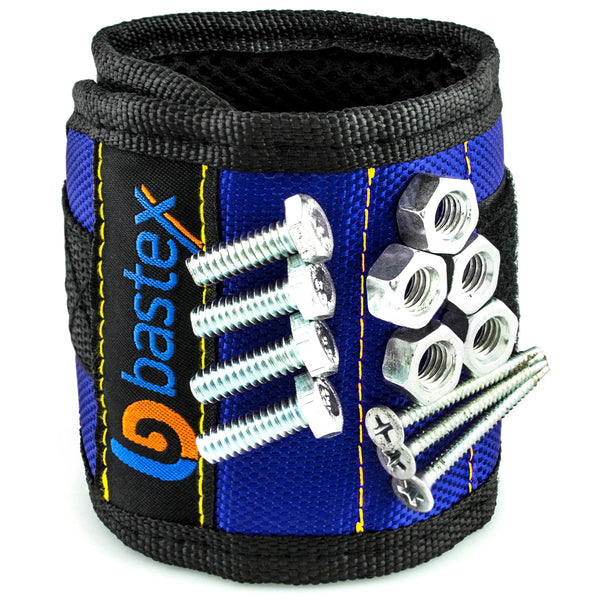 Magnetic Wristband for Small Metal Tools (Blue)
