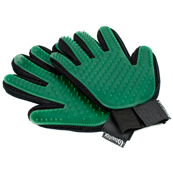 Deshedding Pet Grooming Gloves (Green) - BastexShop