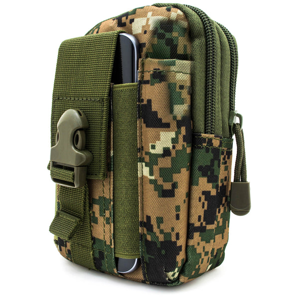 Universal Multi-Purpose Tactical Pouch (Green Camo) - BastexShop