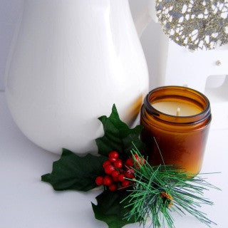 ORANGE + CLOVE CANDLE - Natural Soy Wax Lightly Scented Candle