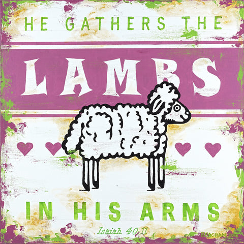 Gather The Lambs-Pink / Psalm 40:11
