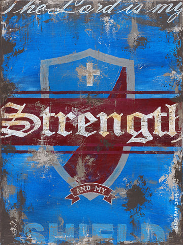 Strength-Blue / Jeremiah 28:7