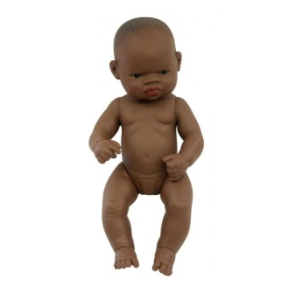 Miniland - 32cm African Baby Doll Girl - Rourke & Henry Kids Boutique