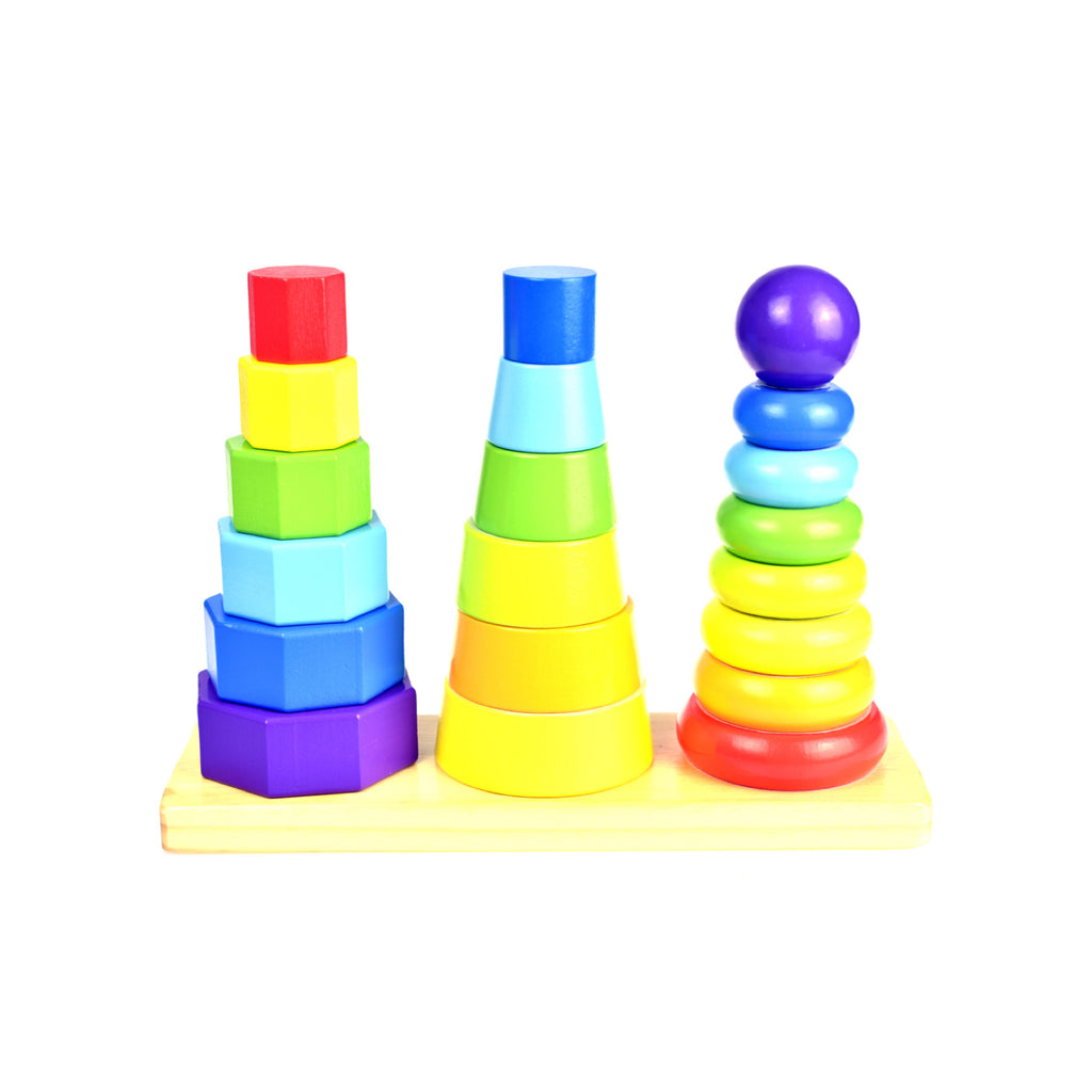 Wooden Stacking Tower - Rourke & Henry Kids Boutique