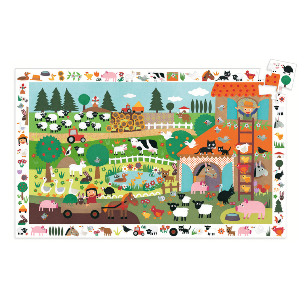Djeco Puzzle - The Farm 35 piece - Rourke & Henry Kids Boutique