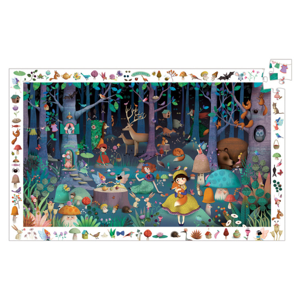 Djeco Puzzle - The Enchanted Forest 100 piece - Rourke & Henry Kids Boutique
