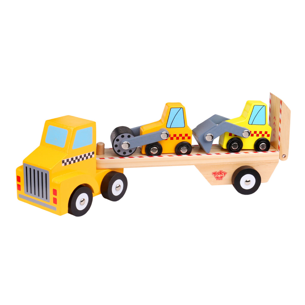 Wooden Construction Vehicle Transporter - Rourke & Henry Kids Boutique