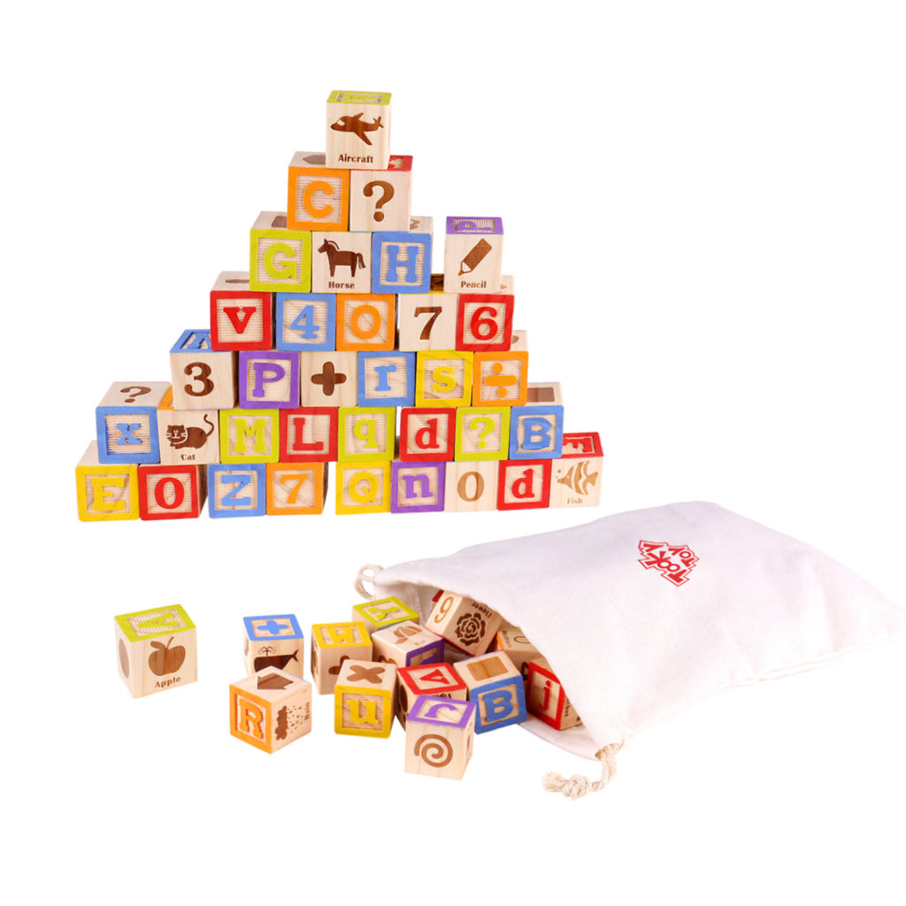 Wooden Alphabet Educational Block Set - Rourke & Henry Kids Boutique