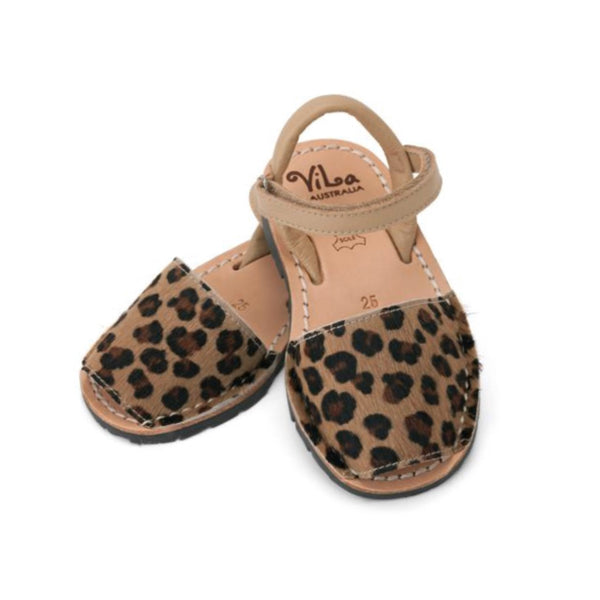 Vila Spanish Sandal - Leopard Spots Leather - Rourke & Henry Kids Boutique