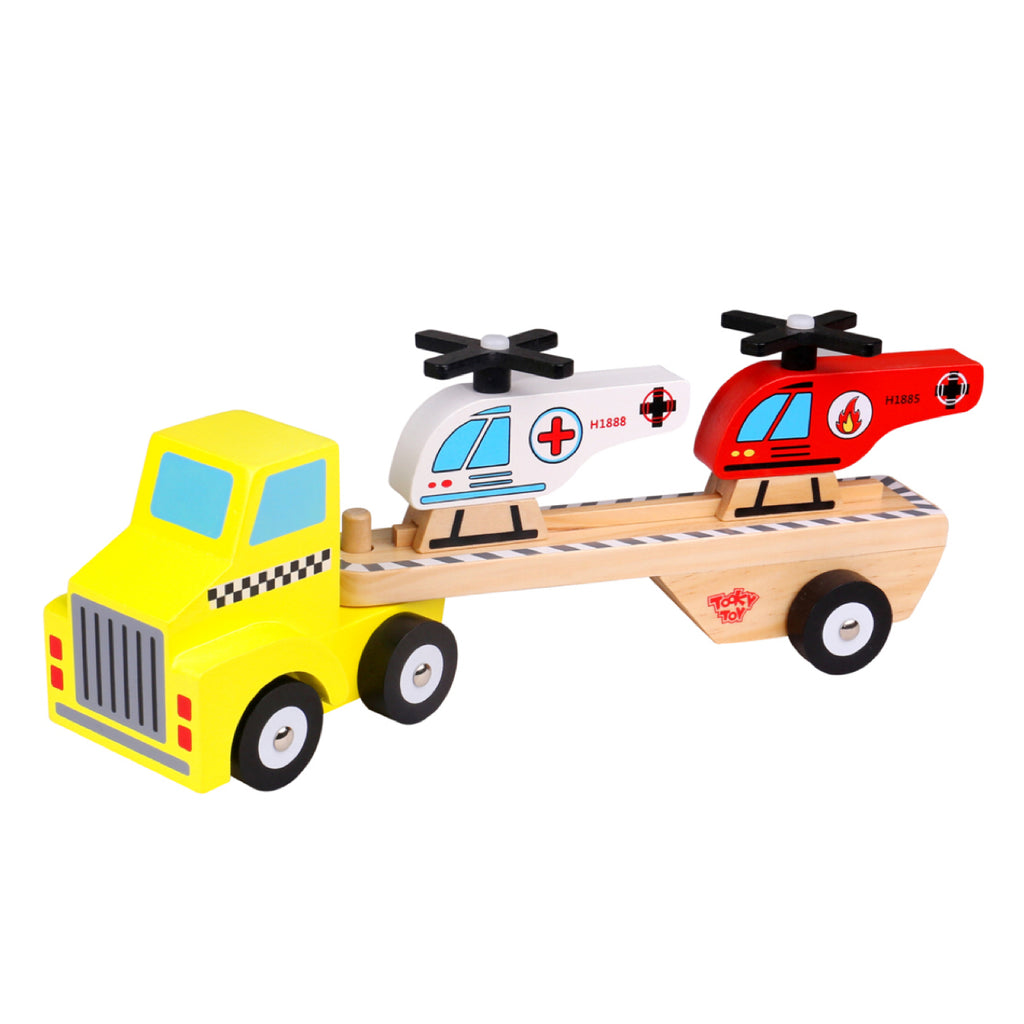 Wooden Helicopter Transporter - Rourke & Henry Kids Boutique