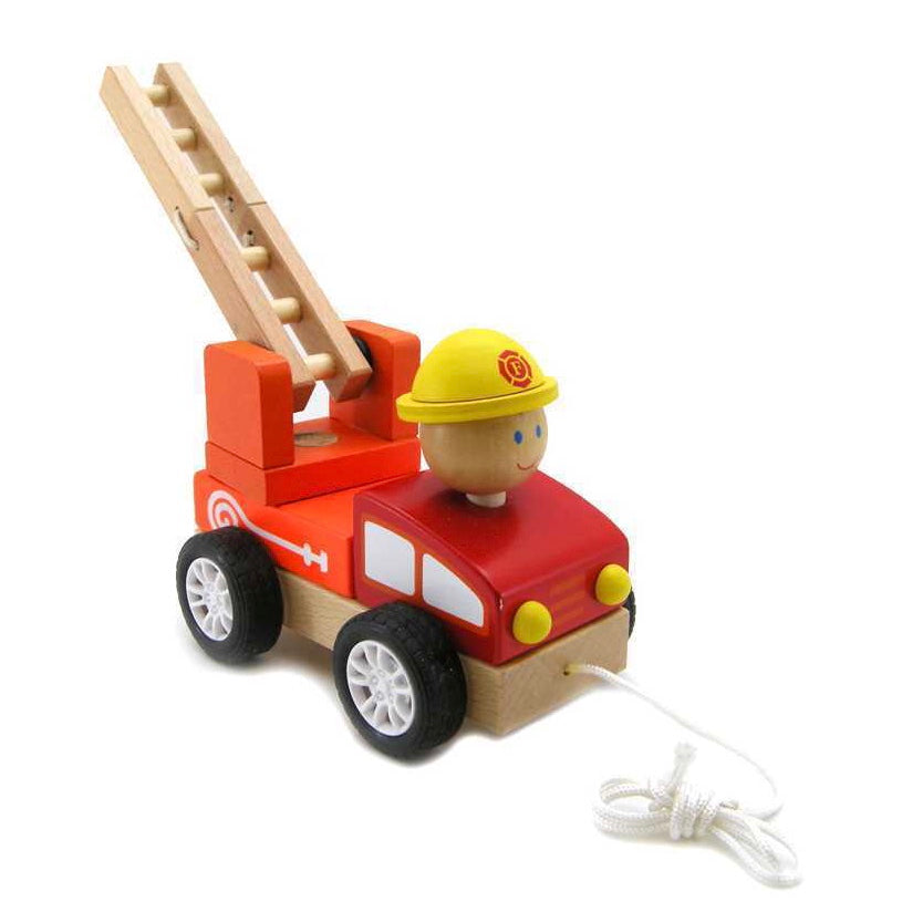 Pull-A-Long Wooden Fire Engine - Rourke & Henry Kids Boutique