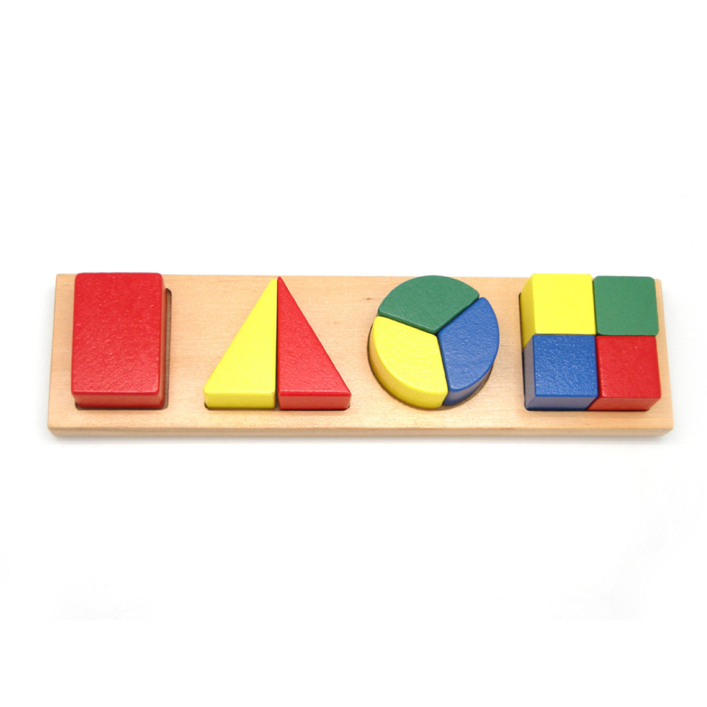 Wooden Fractions Puzzle - Rourke & Henry Kids Boutique