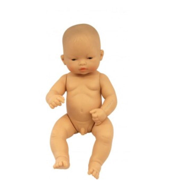 Miniland - 32cm Asian Baby Doll Boy - Rourke & Henry Kids Boutique