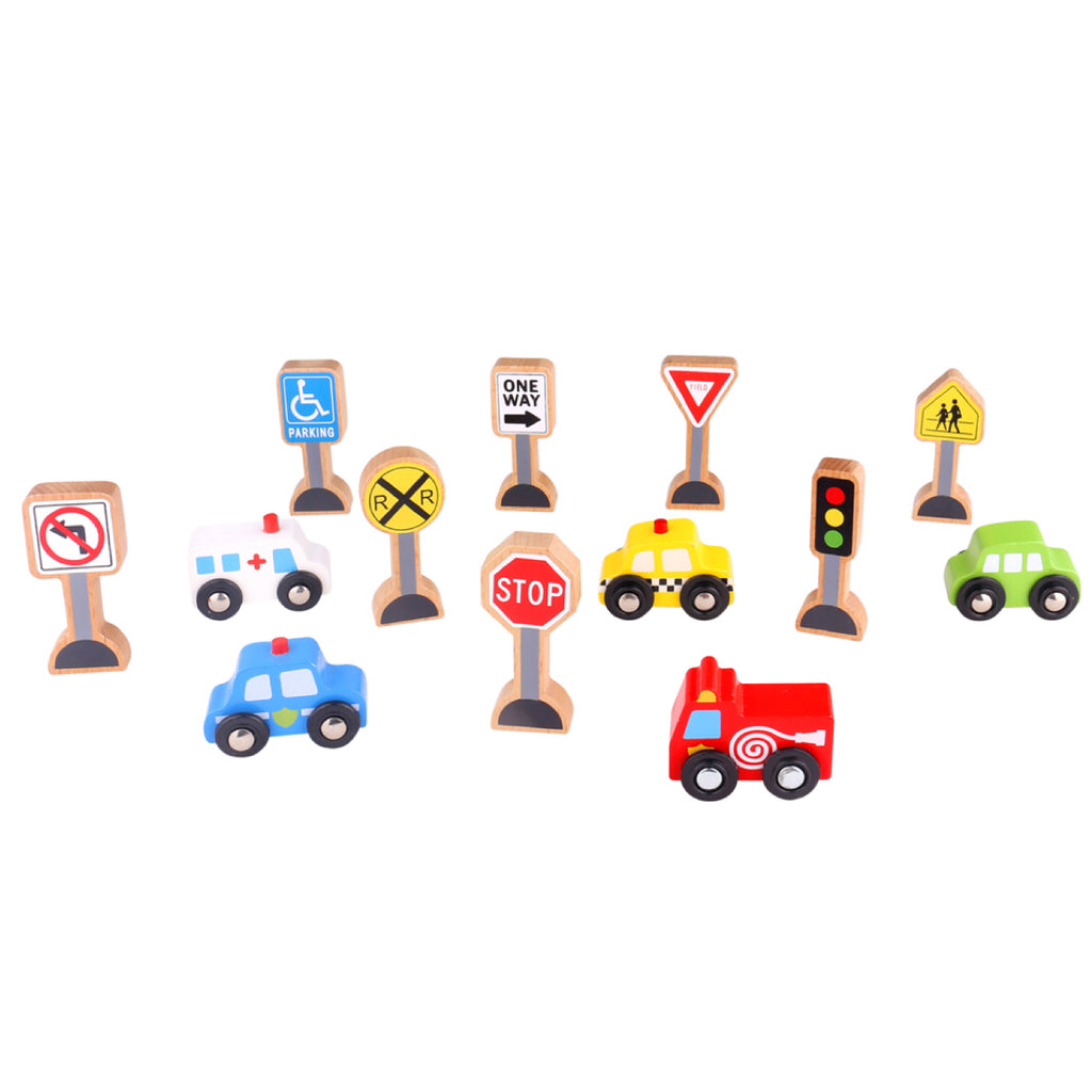 Wooden Transportation & Sign Set - Rourke & Henry Kids Boutique