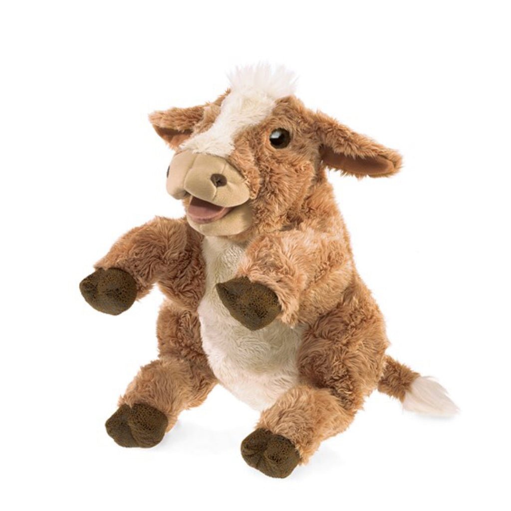 Folkmanis - Puppet Jersey Cow - Rourke & Henry Kids Boutique