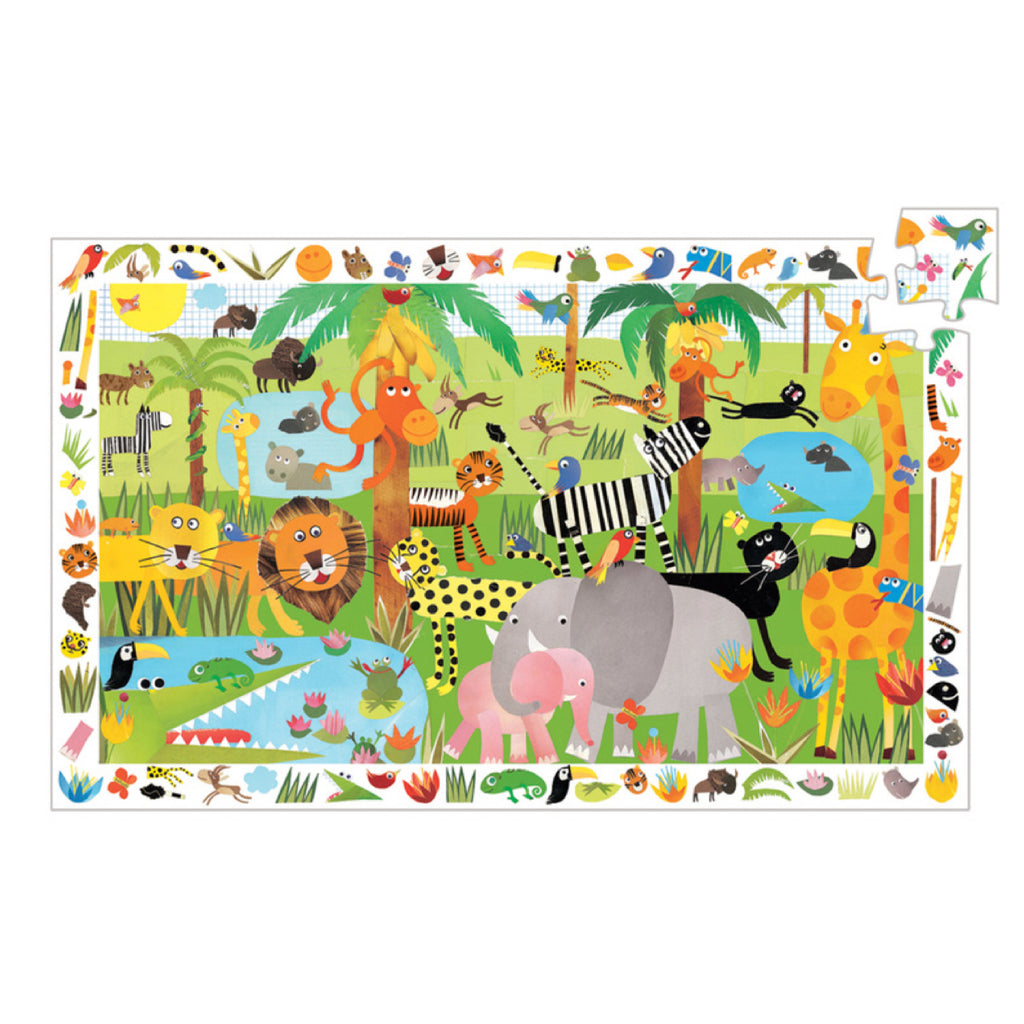 Djeco Puzzle - Jungle 35 piece - Rourke & Henry Kids Boutique