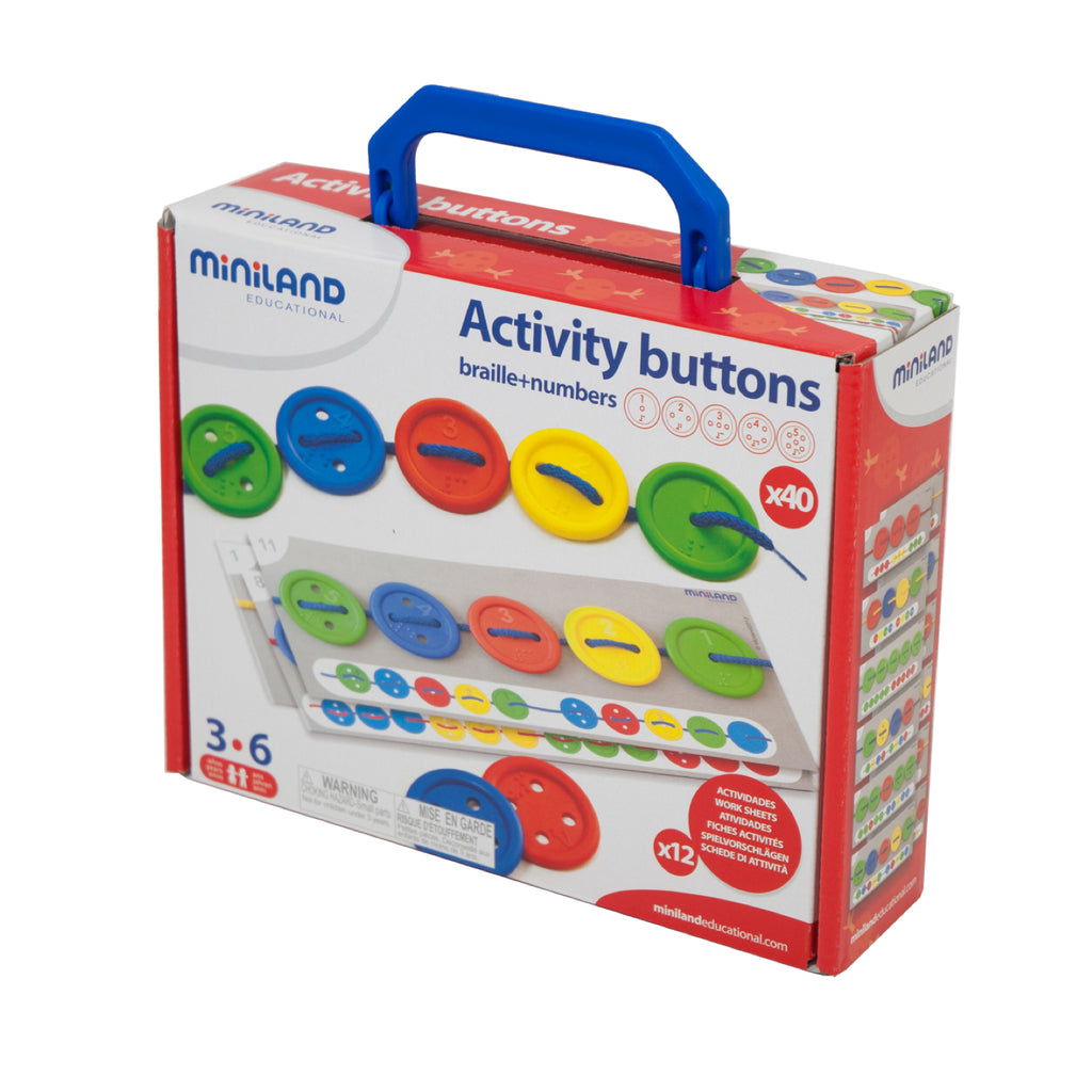 Miniland - Aptitude Activity Buttons - Rourke & Henry Kids Boutique
