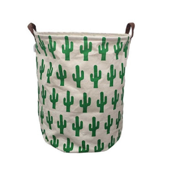 Canvas Storage Basket - Cactus - Rourke & Henry Kids Boutique
